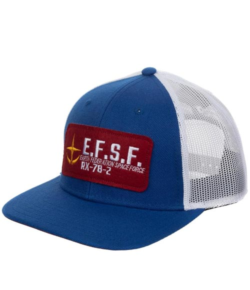 Mobile Suit Gundam E.F.S.F. Military Patch Trucker Hat