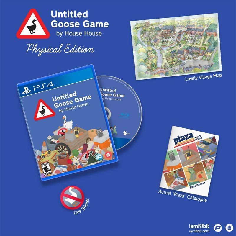 PS4 Untitled Goose Game all physical ed items