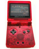 Game Boy Advance SP Housing Shell Replacement Service Clear Red