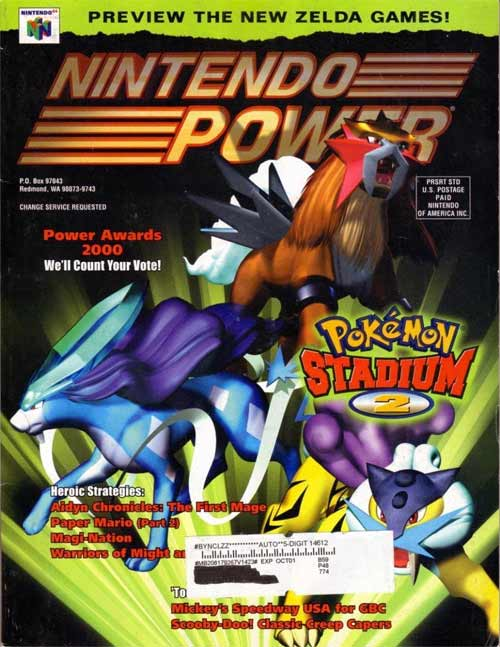 Nintendo Power Volume 142 Pokemon Stadium 2