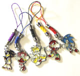 Sonic Heroes: 5 Phone Charms Set