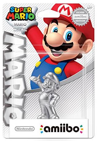 amiibo Mario Silver Edition Super Smash Bros.