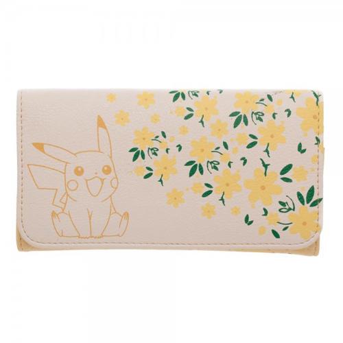 Pokemon Pikachu Floral Jrs. Flap Wallet