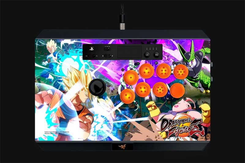 Razer Panthera Arcade Stick Dragon Ball FighterZ top angle