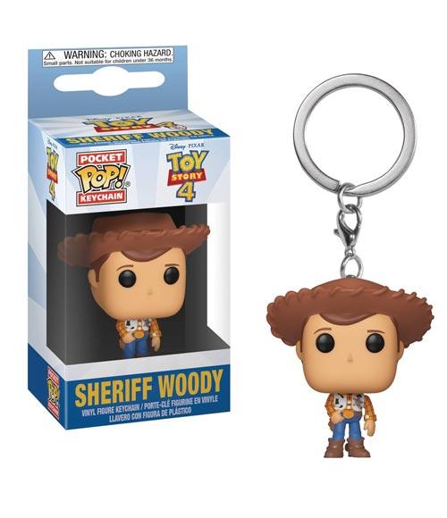 Pocket Pop Toy Story 4 Woody Vinyl Figure Keychain