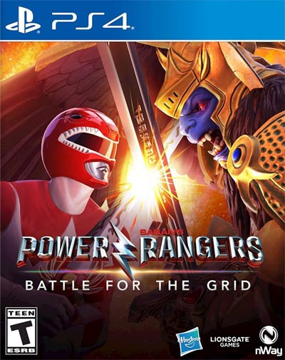 PlayStation 4 Power Rangers Battle for the Grid alternate cover