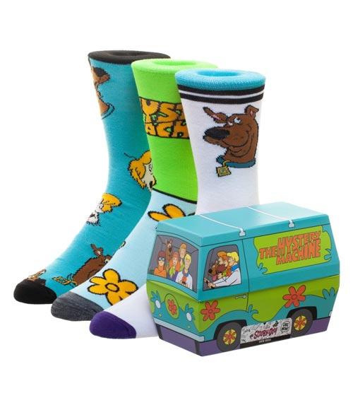 Scooby Doo Mystery Machine Crew Socks 3 Pack