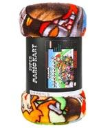 Super Mario Kart Cover Digital Fleece Throw