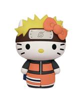 Hello Kitty Mix Naruto 3D Foam Bag Clip BMB Figure