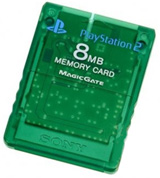 PS2 Memory Card Emerald by Sony