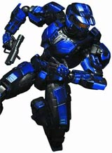 Halo Play Arts Kai Blue Spartan Action Figure