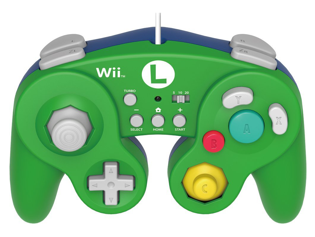 Wii U HORI Battle Pad Luigi Version