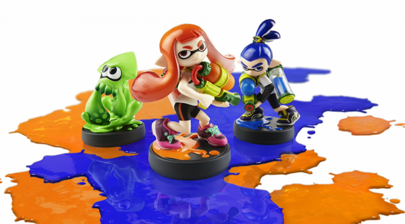 Splatoon Inklings and Inksquid
