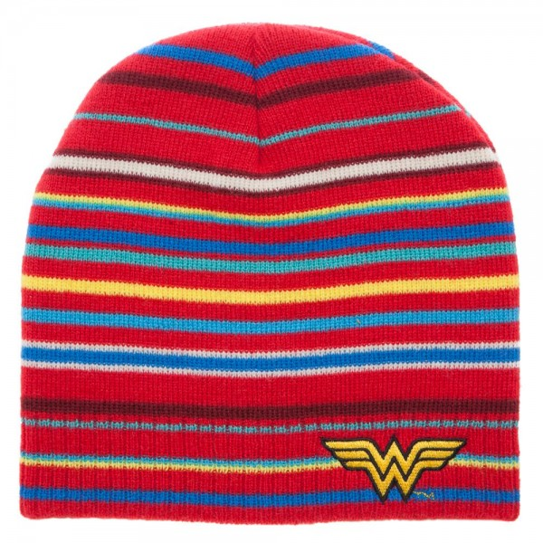 DC Comics Wonder Woman Striped Beanie