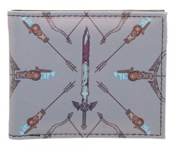 Legend of Zelda Breath of the Wild Sword/Arrow Bi-Fold Wallet Front