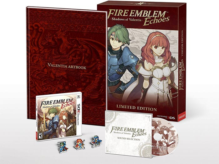 contents of Fire Emblem Echoes Shadows Of Valentia Limited Edition
