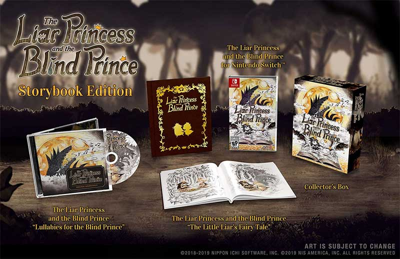 Liar Princess and the Blind Prince Storybook Edition extra items