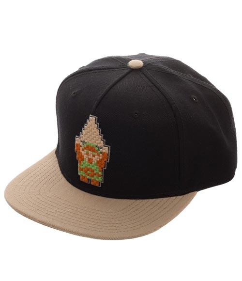 Legend of Zelda Link 8-Bit Black Snapback Hat