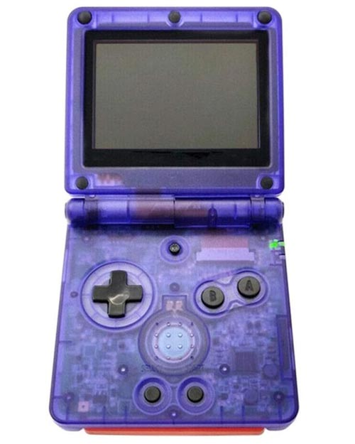 Game Boy Advance SP Housing Shell Replacement Service Dark Clear Blue