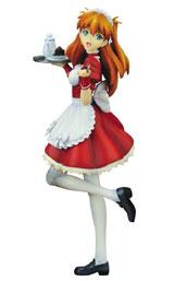 Neon Genesis Evangelion Asuka Original Maid Ver. 1/7 Scale PVC Figure