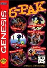 Genesis 6 Pak: 6 in 1 Cartridge