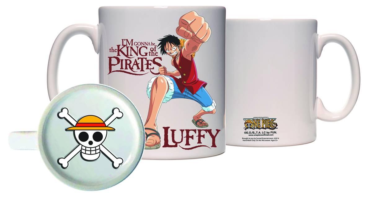 One Piece Luffy Molded Bottom Mug