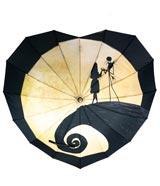 Nightmare Before Christmas Jack & Sally Heart Shaped Umbrella