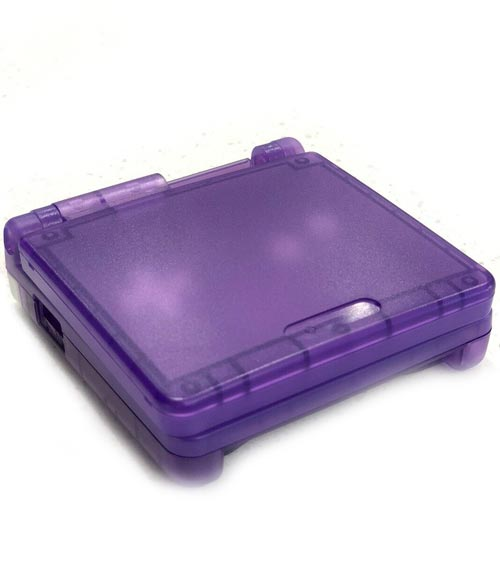 Game Boy Advance SP Housing Shell Replacement Service Dark Clear Purple