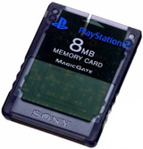 PS2 Memory Card Slate Gray by Sony