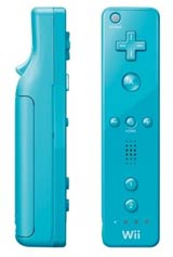 Nintendo Wii Blue Remote by Nintendo