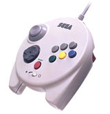 Sega Saturn 3D Analog Controller White