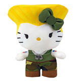 Sanrio X Street Fighter Guile 6 Inch Plush