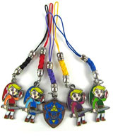 Legend of Zelda Four Swords 5 Phone Charms Set