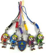 Legend of Zelda Four Swords 5 Phone Charms Set