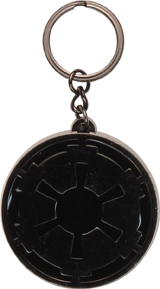Star Wars Imperial Logo Black Gunmetal Keychain