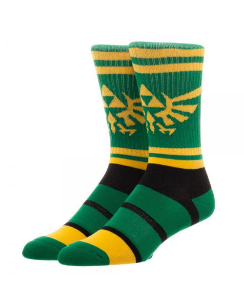 Legend of Zelda Graphic Stripe Crew Socks