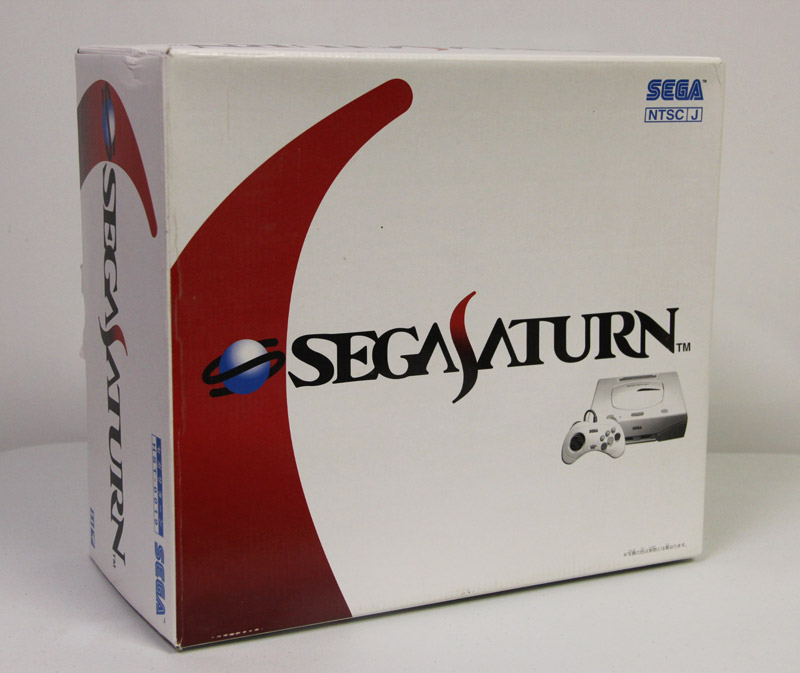 A front image of White Sega Saturn Box