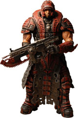 Gears of War 2 Series 4 Dominic Santiago Theron Disguise Action Figure