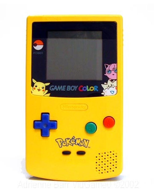 Nintendo Game Boy Color System Pikachu Limited Edition