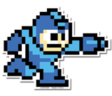 Mega Man 10 Mega Man Running with Buster Sticker