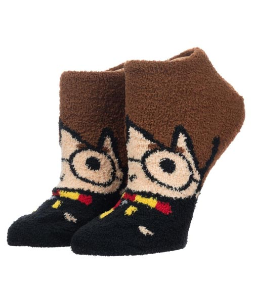 Harry Potter Fuzzy Chenille Ankle Socks