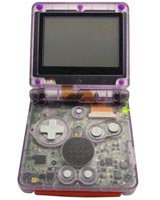Game Boy Advance SP Housing Shell Replacement Service Light Clear Purple