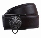 Final Fantasy Advent Children Cloud Symbol Fenrir Black Leather Belt