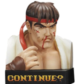 Street Fighter II Losing Face Figures