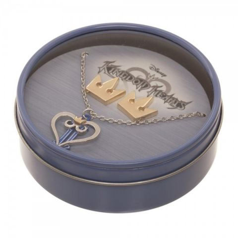 Kingdom Hearts Necklace & Earring Gift Tin