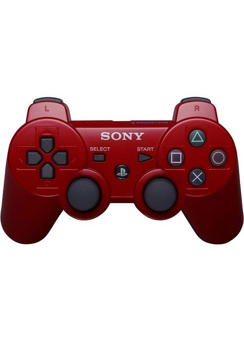 PS3 Dualshock 3 Controller Deep Red Bulk Packaging