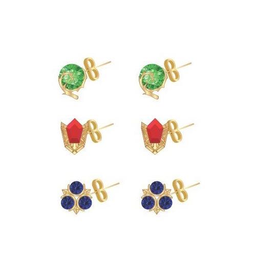 Legend of Zelda 3 Pack Stone Stud Earrings
