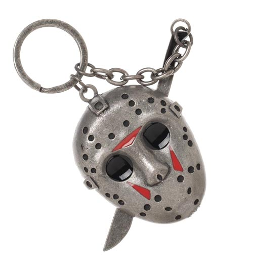 Friday The 13th: Jason Voorhees 3D Mask with Machete Keychain