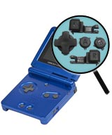 Game Boy Advance SP Repairs: Button Replacement Service