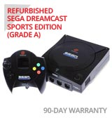 Sega Dreamcast Sports Limited Edition System with Black Controller - Refurbished